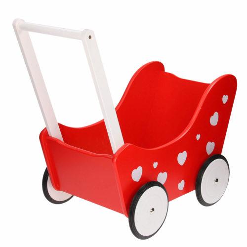 houten poppenwagen Sassefras Meisjes Speelgoed