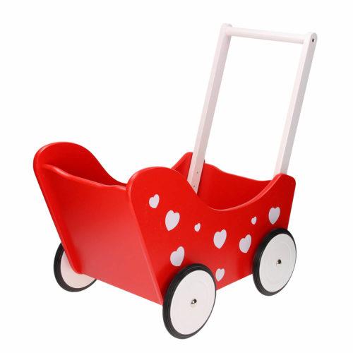 houten poppenwagen achterkant Sassefras Meisjes Speelgoed