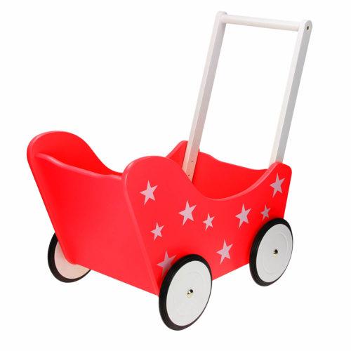 kinderpoppenwagen achterkant Sassefras Meisjes Speelgoed