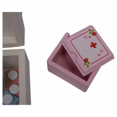 houten dokterskoffer met accessoires doosje Sassefras Meisjes Speelgoed