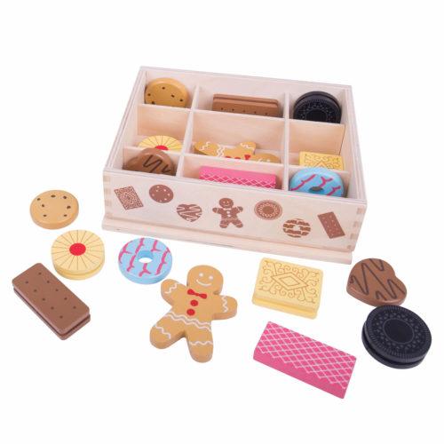 Houten Doos met Koekjes Los Sassefras Meisjes Speelgoed
