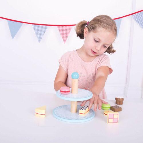 Toetjes Etagere Spelend Kindje Sassefras Meisjes Speelgoed