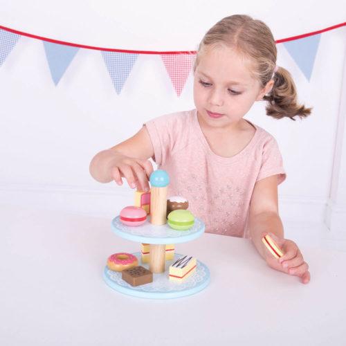 Toetjes Etagere Feest Sassefras Meisjes Speelgoed
