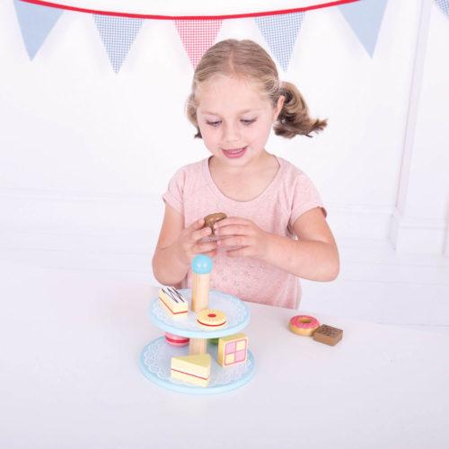 Toetjes Etagere Spelen Sassefras Meisjes Speelgoed