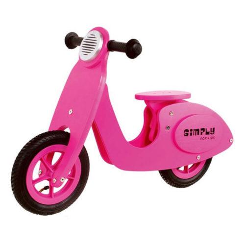 Roze Houten Scooter Sassefras Meisjes Speelgoed