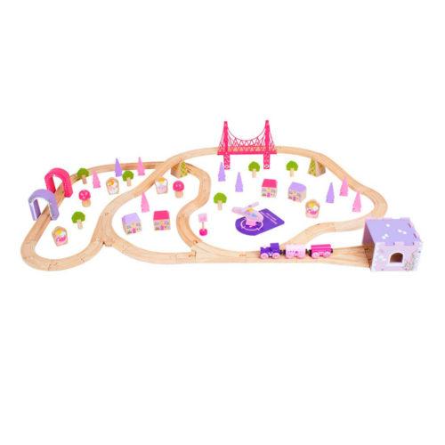 Roze Houten Treinset Stad Sassefras Meisjes Speelgoed