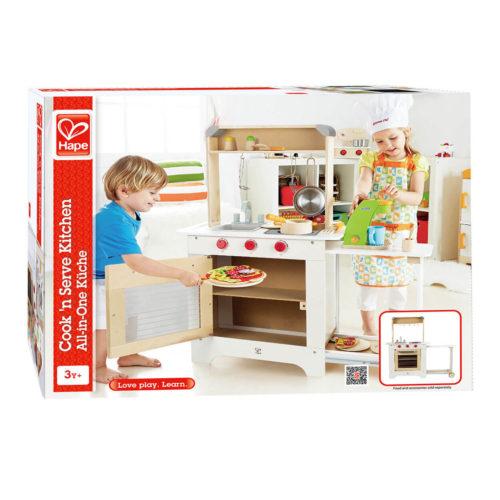 houten kinderkeuken in doos Sassefras Meisjes Speelgoed