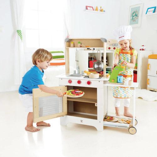 houten kinderkeuken oven Sassefras Meisjes Speelgoed
