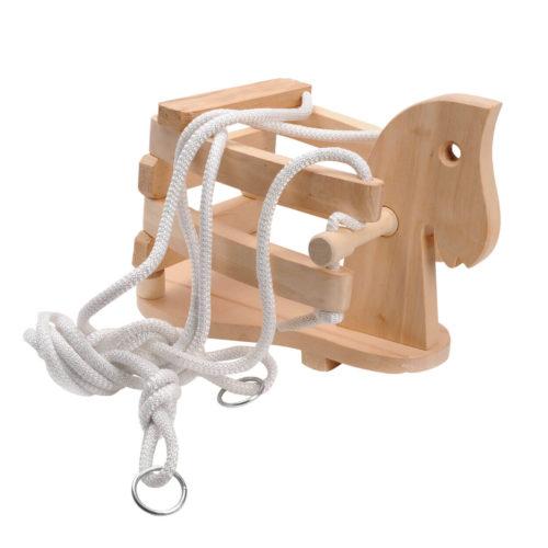 houten schommel paard liggend Sassefras Meisjes Speelgoed