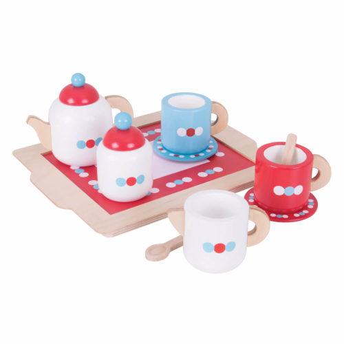 houten theeset Sassefras Meisjes Speelgoed