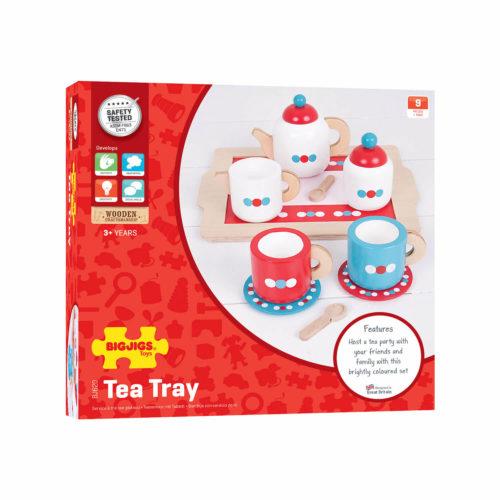 houten theeset in doos Sassefras Meisjes Speelgoed