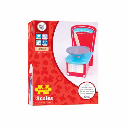 houten weegschaal in doos Sassefras Meisjes Speelgoed