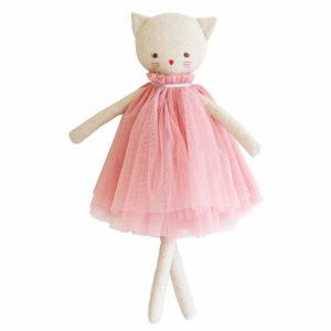 Aurelie Poezen Pop 48cm Roze Sassefras Meisjes Speelgoed