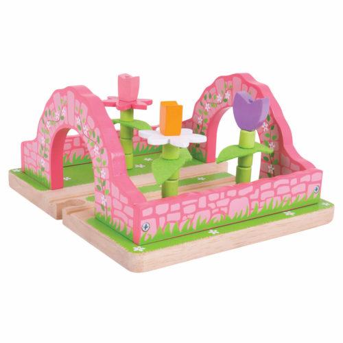 uitbreiding treinbaan bloementuin Sassefras Meisjes Speelgoed