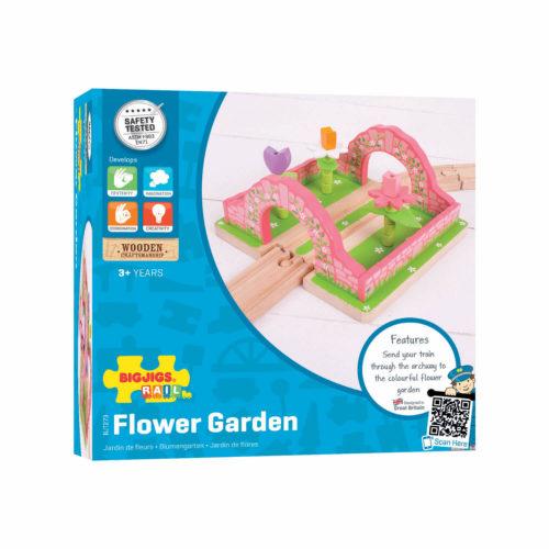 uitbreiding treinbaan bloementuin in doos Sassefras Meisjes Speelgoed
