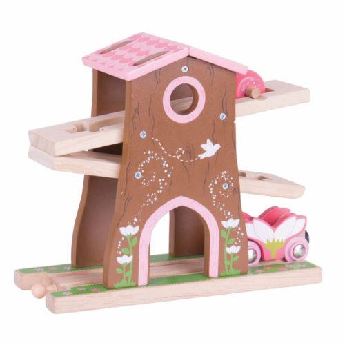 uitbreiding treinbaan boomhuis zijkant Sassefras Meisjes Speelgoed