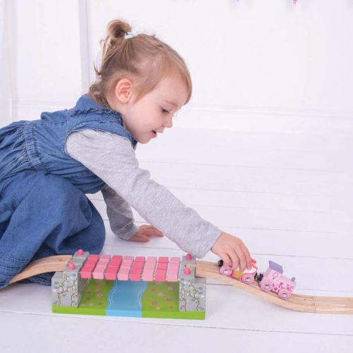 uitbreiding treinbaan touwbrug spelend kindje 4 Sassefras Meisjes Speelgoed