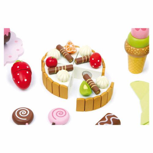 kistje met zoetigheid taart Sassefras Meisjes Speelgoed
