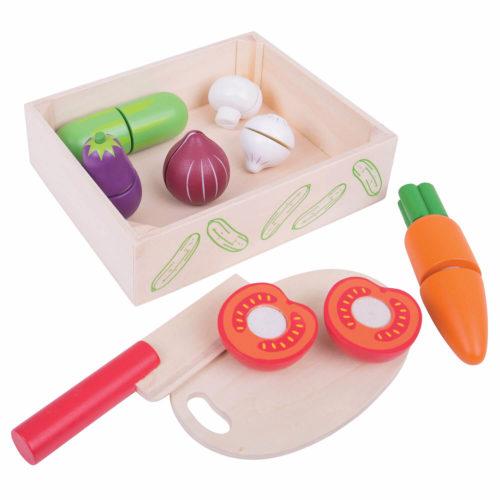 kistje met snijgroenten Sassefras Meisjes Speelgoed