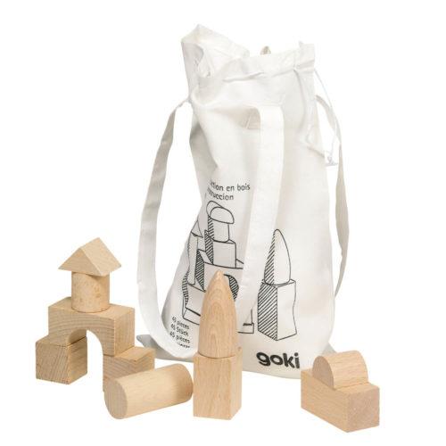 blokken in tas Sassefras Meisjes Speelgoed