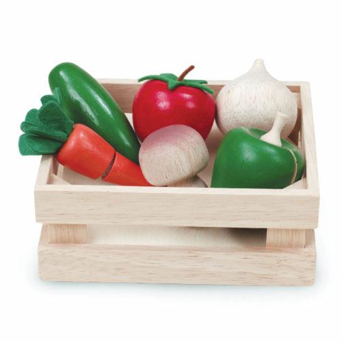 houten kistje met groente Sassefras Meisjes Speelgoed