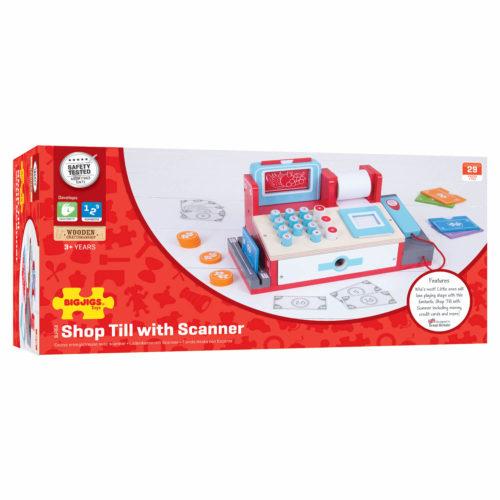 kassa met scanner in doos Sassefras Meisjes Speelgoed