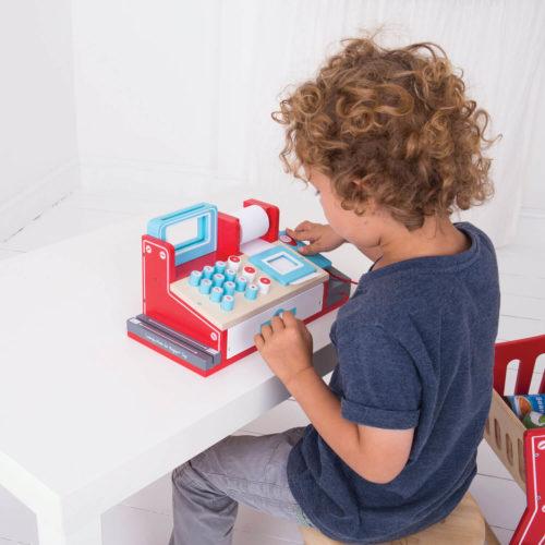 kassa met scanner kindje3 Sassefras Meisjes Speelgoed