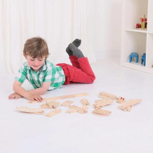 rails uitbreiding 25 dlg spelen Sassefras Meisjes Speelgoed
