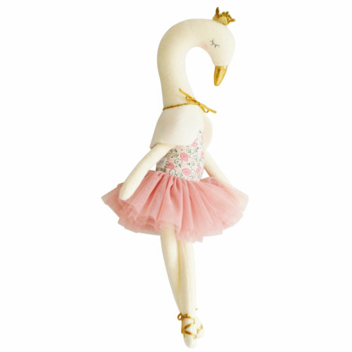 alimrose knuffel zwaan blush staan Sassefras Meisjes Speelgoed
