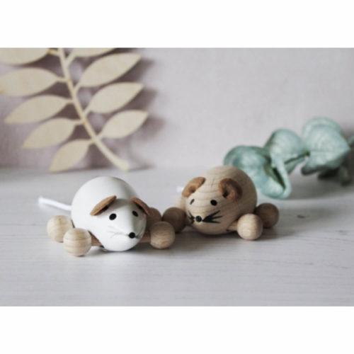 houten muisje met wielen sfeer2Sassefras Meisjes Speelgoed