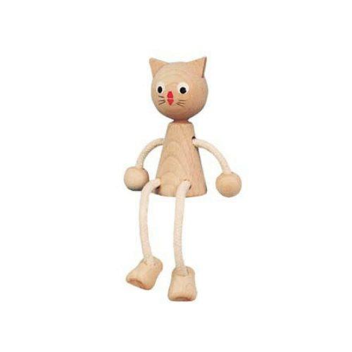 houten zitfiggur poes Sassefras Meisjes Speelgoed
