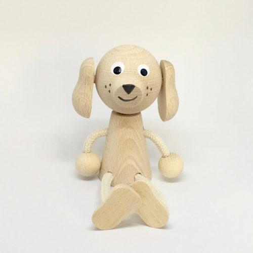 houten zitfiguur hondje Sassefras Meisjes Speelgoed