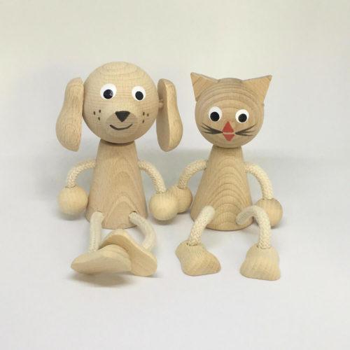 houten zitfiguurtjes Sassefras Meisjes Speelgoed