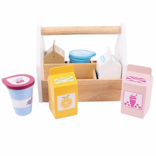 kistje met zuivelproducten Sassefras Meisjes Speelgoed
