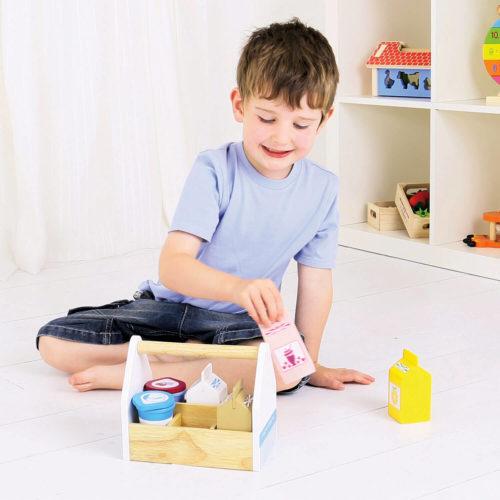 kistje met zuivelproducten spelen Sassefras Meisjes Speelgoed