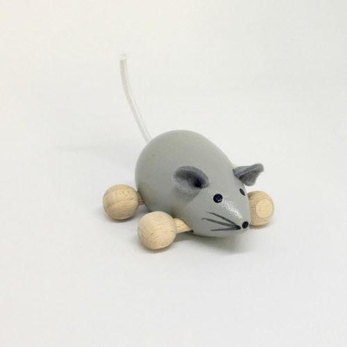muisje met wielen grijs Sassefras Meisjes Speelgoed