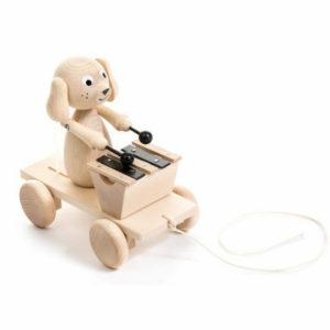trekfiguur hond met xylofoon Sassefras Meisjes Speelgoed