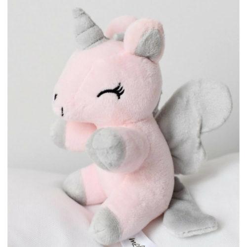 eenhoorn knuffeltje roze klein