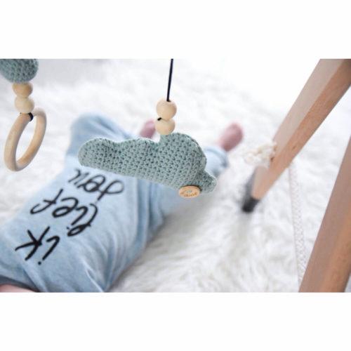 houten babygym zwart en groene speeltjes Sassefras Meisjes Speelgoed