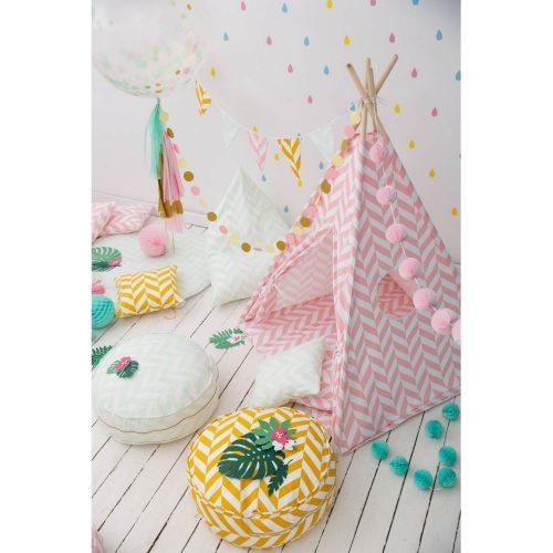 tipi tent met roze chevron print sfeer Sassefras Meisjes Speelgoed