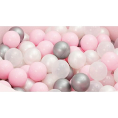 ballenbad ballen roze-zilver 50 stuks
