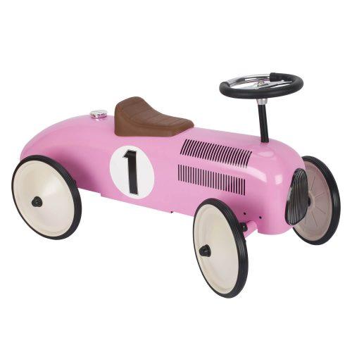 roze metalen retro loopauto Sassefras Meisjes Speelgoed