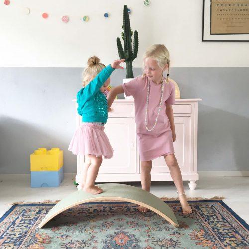 wobbel original whitewash met vilt Sassefras Meisjes Speelgoed