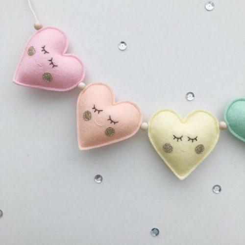 3d hartjes pastel garland Sassefras Meisjes Speelgoed