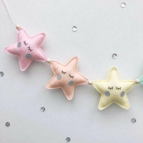 3d sterren garland Sassefras Meisjes Speelgoed