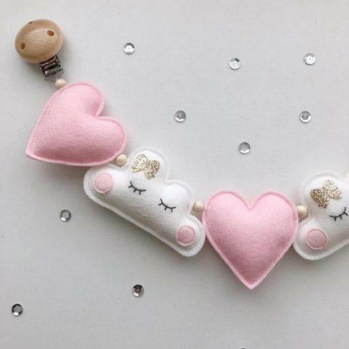 handgemaakte vilten wagenspanner hart en wolk Sassefras Meisjes Speelgoed