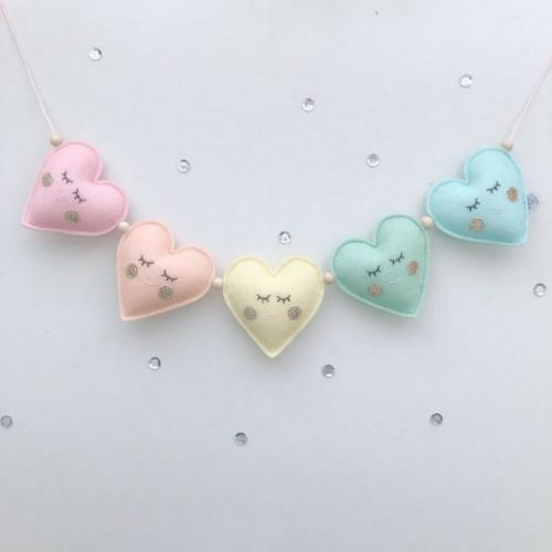 pastel hartjes slinger 3d Sassefras Meisjes Speelgoed