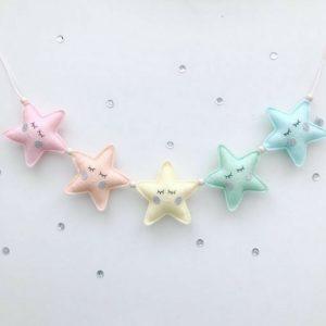 pastel sterretjes slinger 3d Sassefras Meisjes Speelgoed