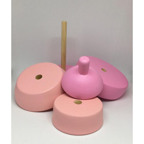 stapeltoren peer pink:dusty rose uit elkaar Sassefras Meisjes Speelgoed
