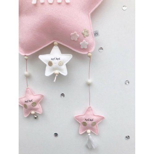 vilten naam mobiel ster roze detail Sassefras Meisjes Speelgoed